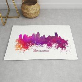 Minneapolis skyline purple Rug