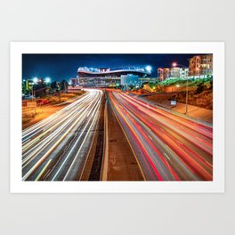 Stadium at Mile High - Denver Colorado Art Print