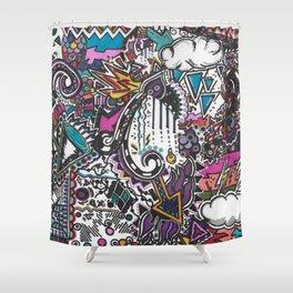 Society 6 Hotspot Doodle Shower Curtain