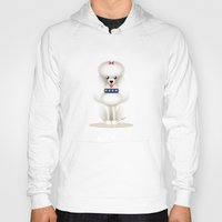 poodle Hoodies featuring Chic Poodle by Lorenzo Sabbatini
