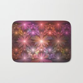Bed Of Flowers Abstract, Fractal Art Bath Mat
