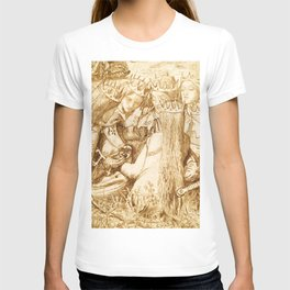 """Dante Gabriel Rossetti """"King Arthur and the Weeping Queens"""" T-shirt"""