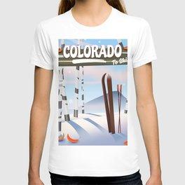 colorado to ski T-shirt