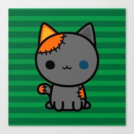 Cute spooky kitty Canvas Print