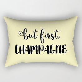 But First... CHAMPAGNE Rectangular Pillow