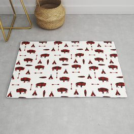 Buffalo Tribe // Red Check Rug