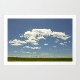 Green Grass, Blue Sky, Clean Air Art Print