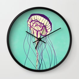Under the Turquoise Sea Wall Clock