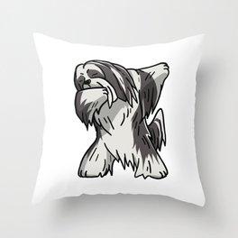 Funny Dabbing Lhasa Apso Dog Dab Dance Throw Pillow