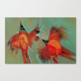 Waxwings Canvas Print