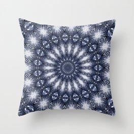 Feathers & Diamonds Mandala Throw Pillow
