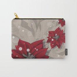 Poinsettias - Christmas flowers | BG Color I Carry-All Pouch