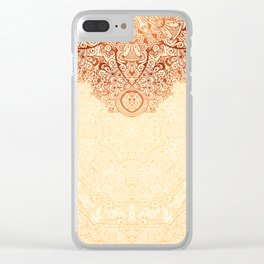 Elegance Ornate Mehndi Mandala v.1 Clear iPhone Case