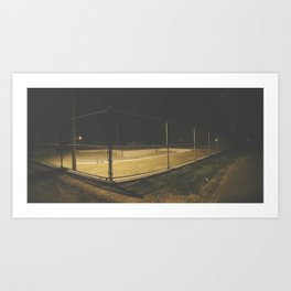 Empty Public Pool at Night Art Print