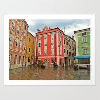 Apartments in Parin, Slovenia Art Print