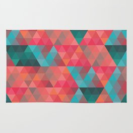 Abstract Geometric Pattern colorful triangles abstract art Rug