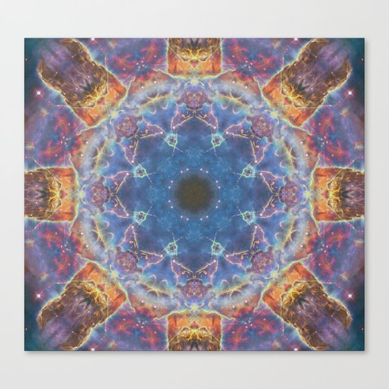 Space Mandala no2 Canvas Print