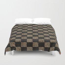 Checkerboard (Black) Duvet Cover