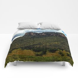 Painted Southern Arizona Greenery Comforters