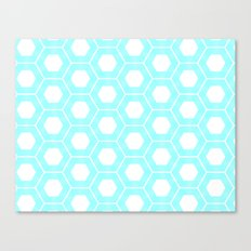 Nieuwland Powder Blue Hexagons Pattern Canvas Print