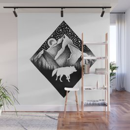 THE LONELY WOLF Wall Mural