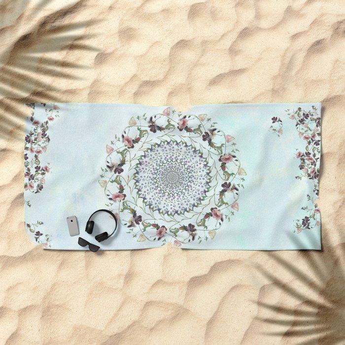 Floral fervour Beach Towel