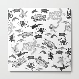 Underwater world Metal Print