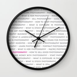 Strong Photography Keywords Marketing Concept Wall Clock