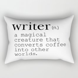Writer Definition - Converting Coffee Rectangular Pillow