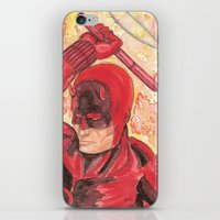 daredevil iPhone & iPod Skins featuring Daredevil by Kirsten L George