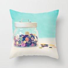 Where's Baby's Button? Throw Pillow