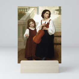 "William-Adolphe Bouguereau ""Far From Home"" Mini Art Print"