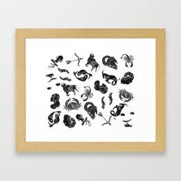 Zodiac Star Pattern Framed Art Print