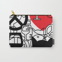 Peace, Love, Wine and Cats Carry-All Pouch