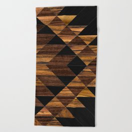 Urban Tribal Pattern 11 - Aztec - Wood Beach Towel