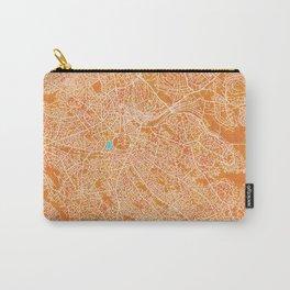 Kampala, Uganda, Gold, Blue, City, Map Carry-All Pouch
