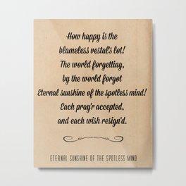 Eloisa to Abelard Metal Print