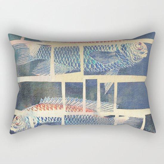 Fish Under Strong Radiation 5 Rectangular Pillow