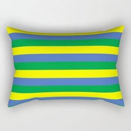 gabon flag stripes Rectangular Pillow