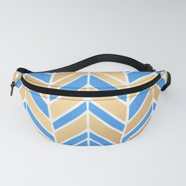 Intermittent Herringbone – Blue Gold Palette Fanny Pack