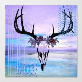 SkullandFlowerCrown Canvas Print