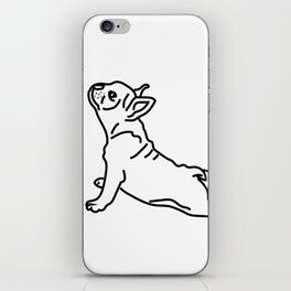 Yoga Frenchie iPhone Skin