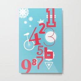 123... Metal Print