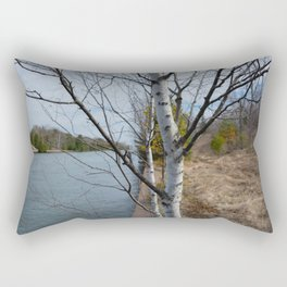 on the canal Rectangular Pillow