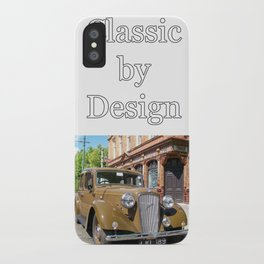 Vintage car and English Pub iPhone Case