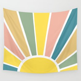 Retro Sun Ray Burst Wall Tapestry