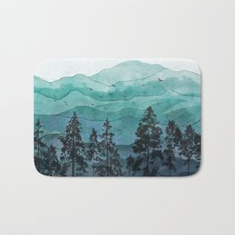 Mountains II Bath Mat