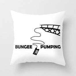 Bungee Pump Throw Pillow