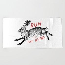 Run Like The Wind Beach Towel