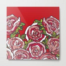 Valentine's Red Roses Metal Print